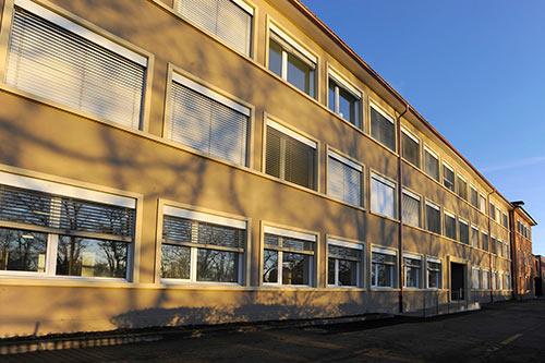 Vue extérieure du bâtiment