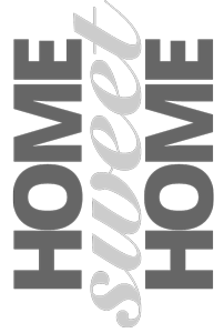 """Titrage graphique """"home sweet home"""""""